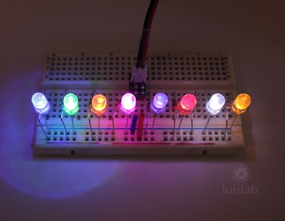 LED Blue, Green, Orange, Pink, Purble, Red, White and Yellow